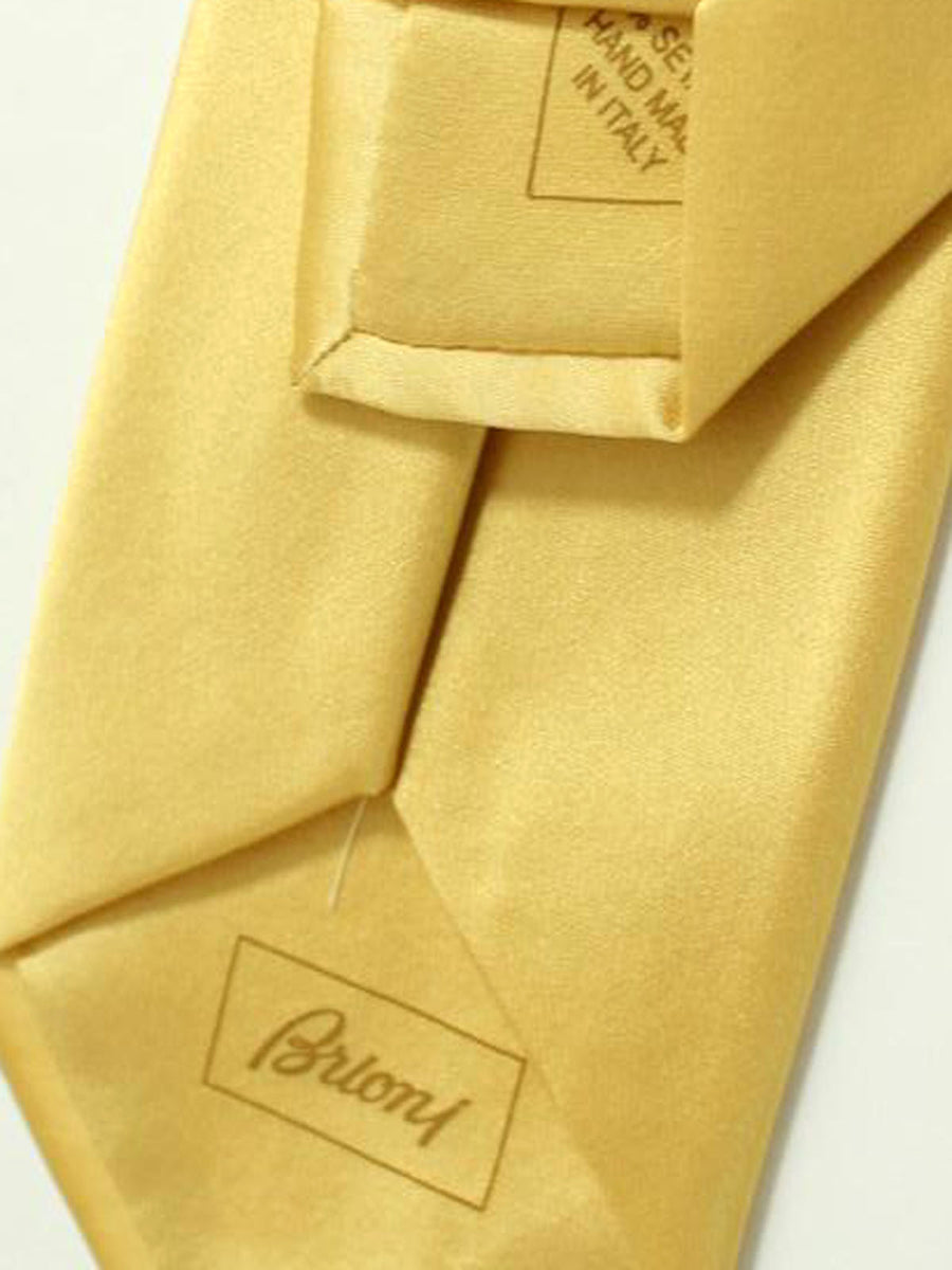 Brioni Tie Yellow Gold Solid Design