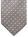 Brioni Silk Tie Gray Medallion