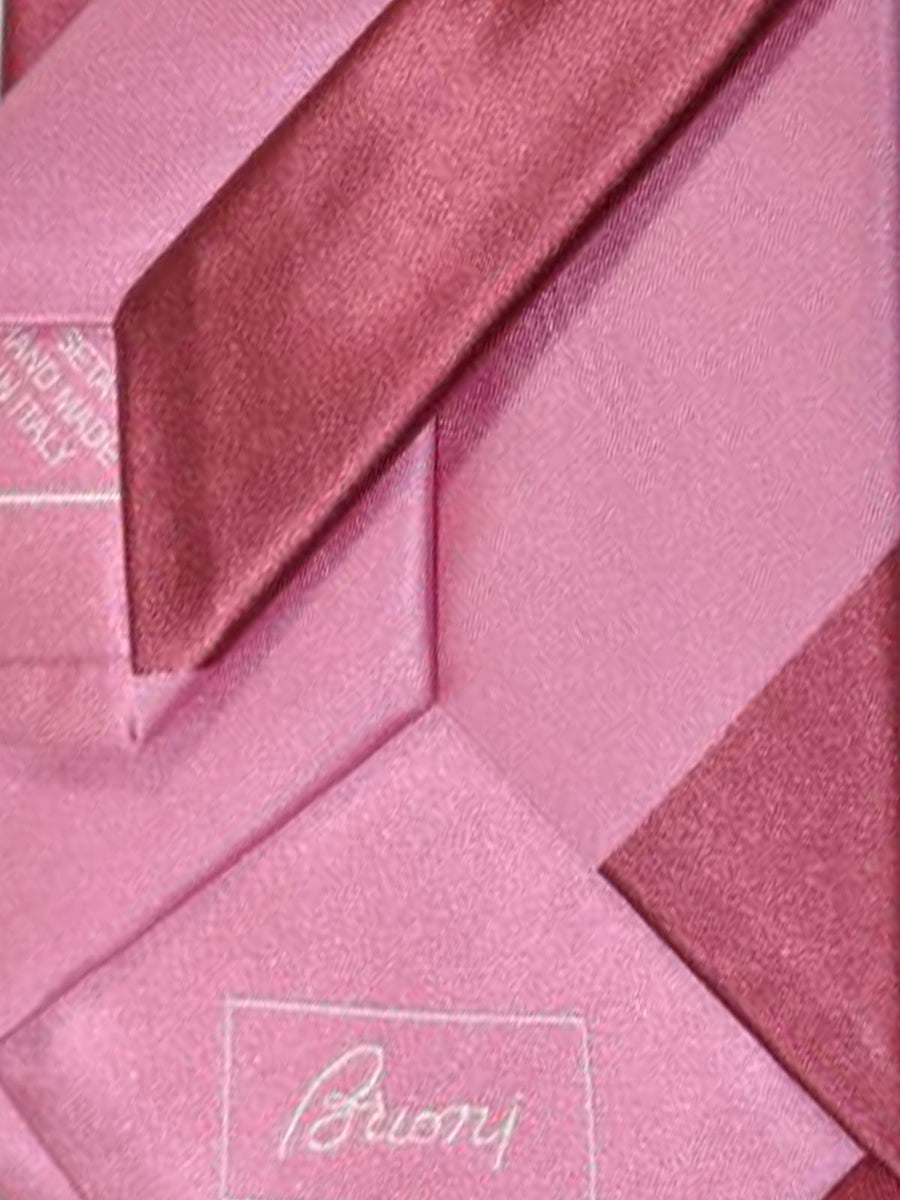 Brioni Tie Pink Stripes Design