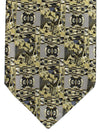 Brioni Tie Gray Geometric Design