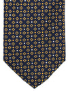 Brioni Tie Navy Orange Geometric Design