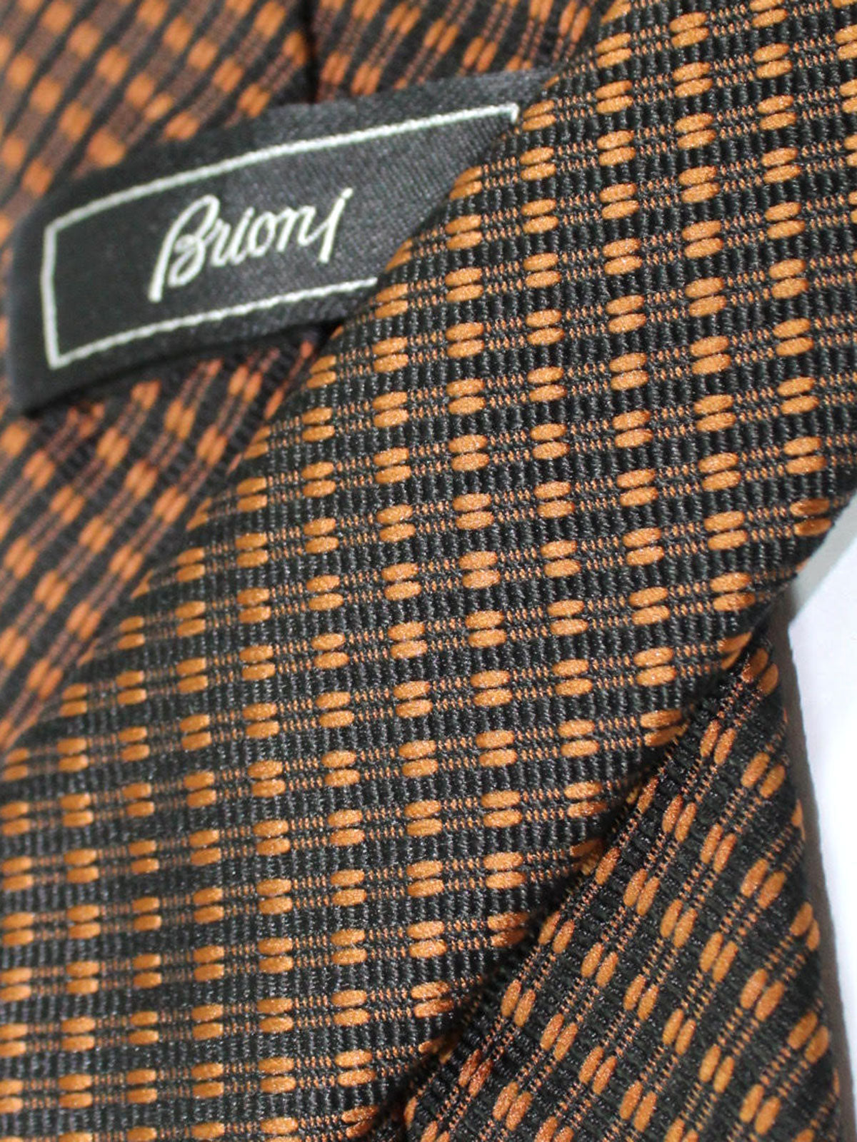 Brioni Silk Tie Brown Black Stripes