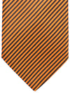 Brioni Silk Tie Rust Orange Stripes Design