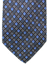 Brioni Silk Tie Blue Navy Geometric Design