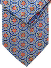 Brioni Tie & Matching Pocket Square Set Navy Red Gold Medallions