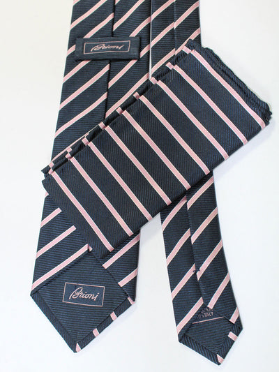 Brioni Tie & Matching Pocket Square Set