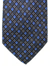 Brioni Silk Tie Dark Blue Black Geometric SALE