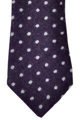 Brunello Cucinelli Wool Tie Purple Dots SALE