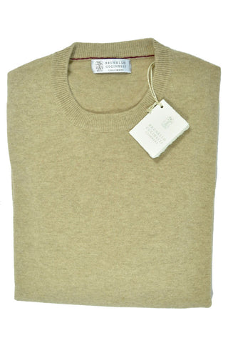 Brunello Cucinelli Cashmere Sweater Cream Men EUR 46 / US 36 FINAL SALE