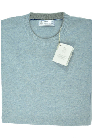 Brunello Cucinelli Cashmere Sweater Sky Blue EUR 46 / US 36 SALE