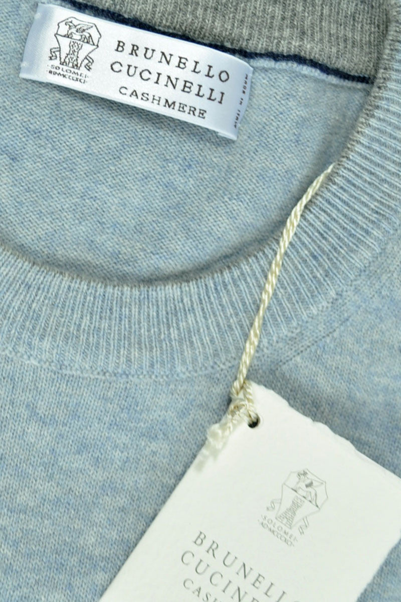 Brunello Cucinelli Cashmere Sweater Sky Blue