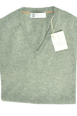 Brunello Cucinelli Cashmere Sweater Gray V-Neck