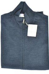 Brunello Cucinelli Zip Sweater Navy Men