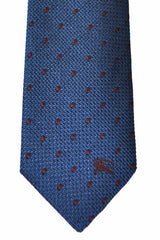 Burberry Tie Dark Mineral Blue Brown Dot