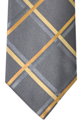 Copy of Burberry Tie Gray Olive Gold Stripes - Wide Necktie