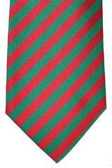 Burberry Tie New Red Green Stripes - Wide Necktie
