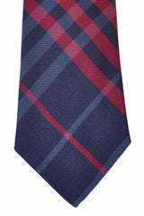 Burberry Tie Purple Signature Check Maniston Navy Burgundy - Modern Cut