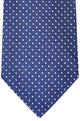 Burberry Tie Navy Silver Dots - Wide Necktie