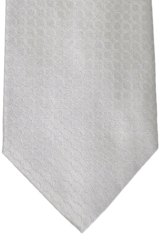 Burberry Tie Gray Circles - Wide Necktie