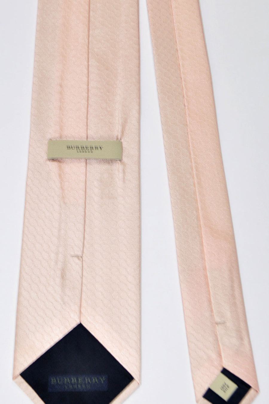 Burberry Tie Light Pink Circles - Wide Necktie