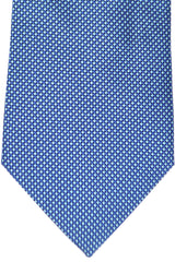 Burberry Tie Navy Blue Geometric - Wide Necktie