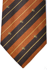 Burberry Tie Brown Stripes - Wide Necktie