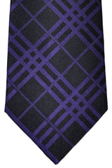 Burberry Tie Black Purple Stripes