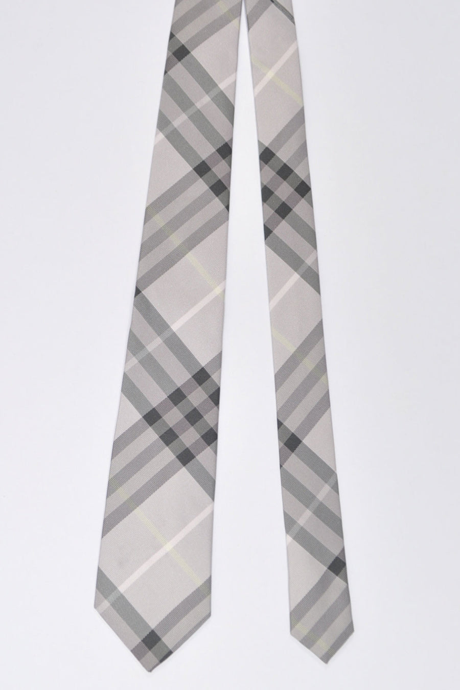 Burberry Tie Dust Pink Gray Check - Modern Cut
