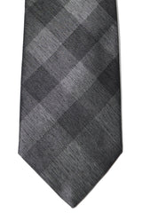 Burberry Tie Charcoal Gray Check