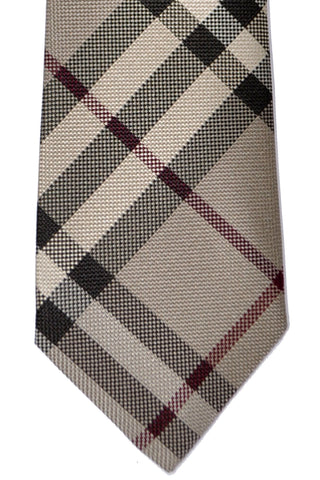 Burberry Tie Smoked Trench Check Manston Modern Cut