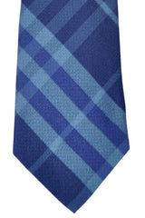 Burberry Tie Check Navy Lapis Blue Manston Check - Modern Cut