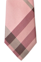 Burberry Tie Dust Pink Manston Check - Modern Cut