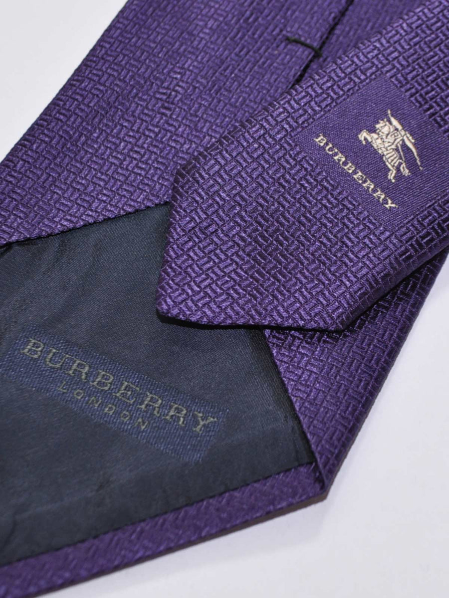 Burberry Silk Tie Purple - Wide Necktie