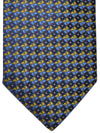 Burberry Tie Navy Olive Royal Blue Pattern