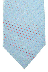 Bvlgari Sevenfold Tie Sky Blue Maroon Orange Dots