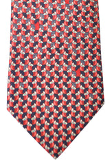 Bvlgari Sevenfold Tie Black Red Gufo R Foglia Novelty Tie 2015 Collection