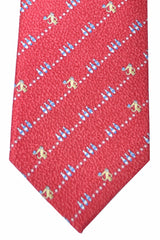 Bvlgari Sevenfold Tie Red Bowling Novelty Tie 2015 Collection