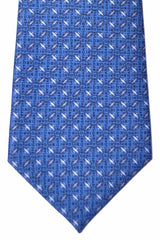 Bvlgari Sevenfold Tie Dark Blue Diamond Logo Tie 2015 Collection