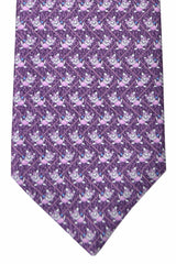 Bvlgari Sevenfold Tie Violet Purple Puppy Novelty Tie 2015 Collection