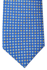 Bvlgari Sevenfold Tie Blue Logo Novelty Tie 2015 Collection