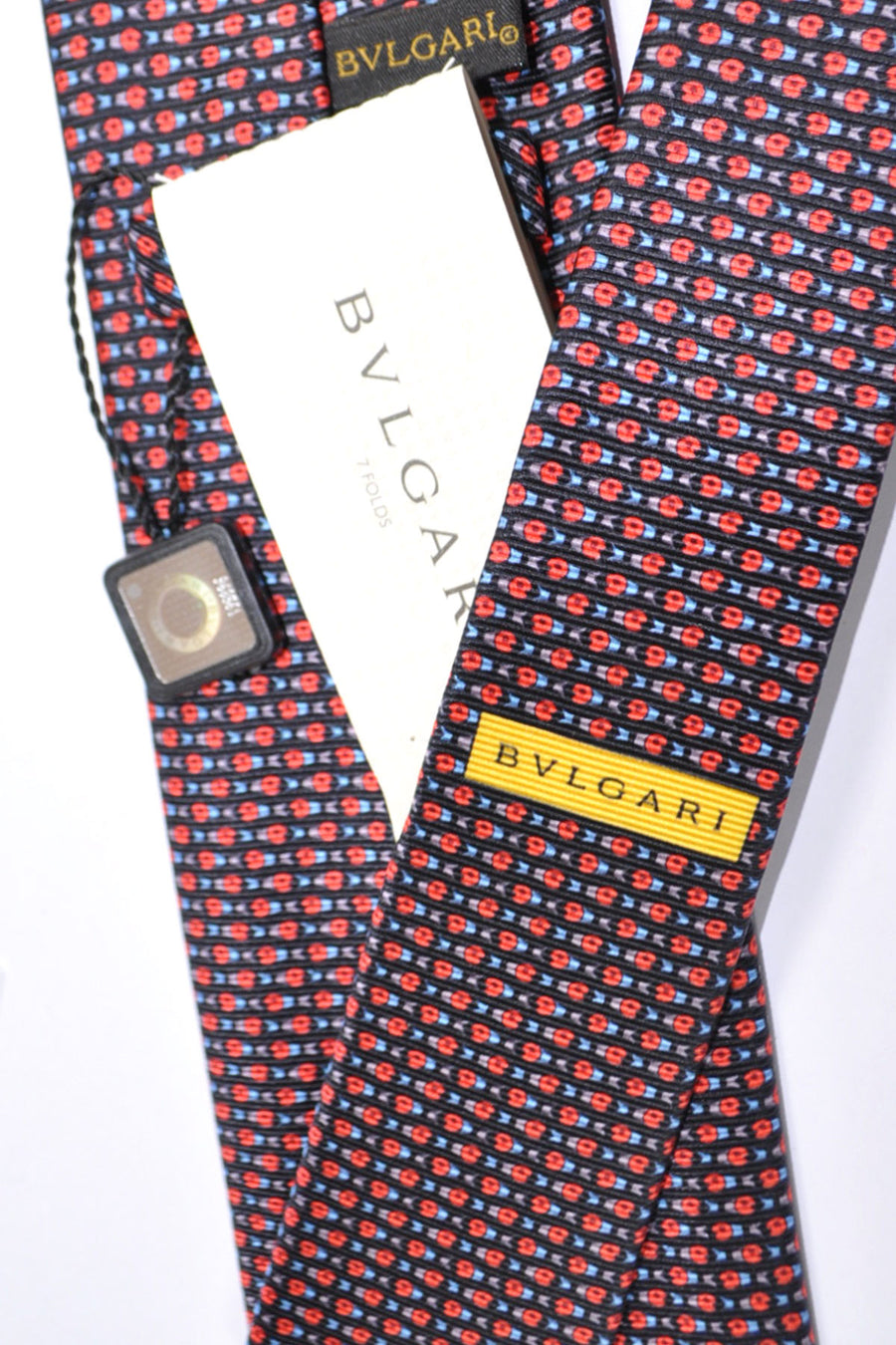 Bvlgari Sevenfold Tie Black Red Sealife