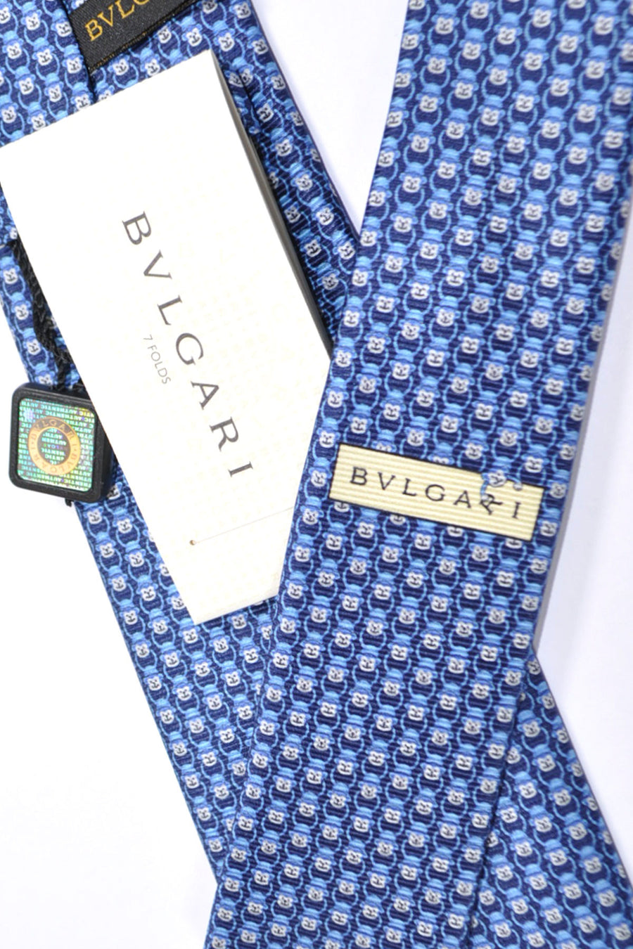 Bvlgari Sevenfold Tie Denim Shapire Blue