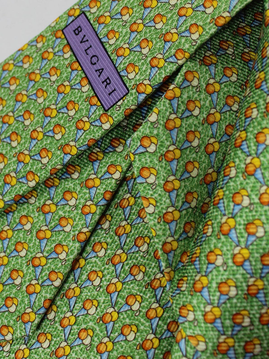 Bvlgari Sevenfold Tie Green Ice Cream Design SALE