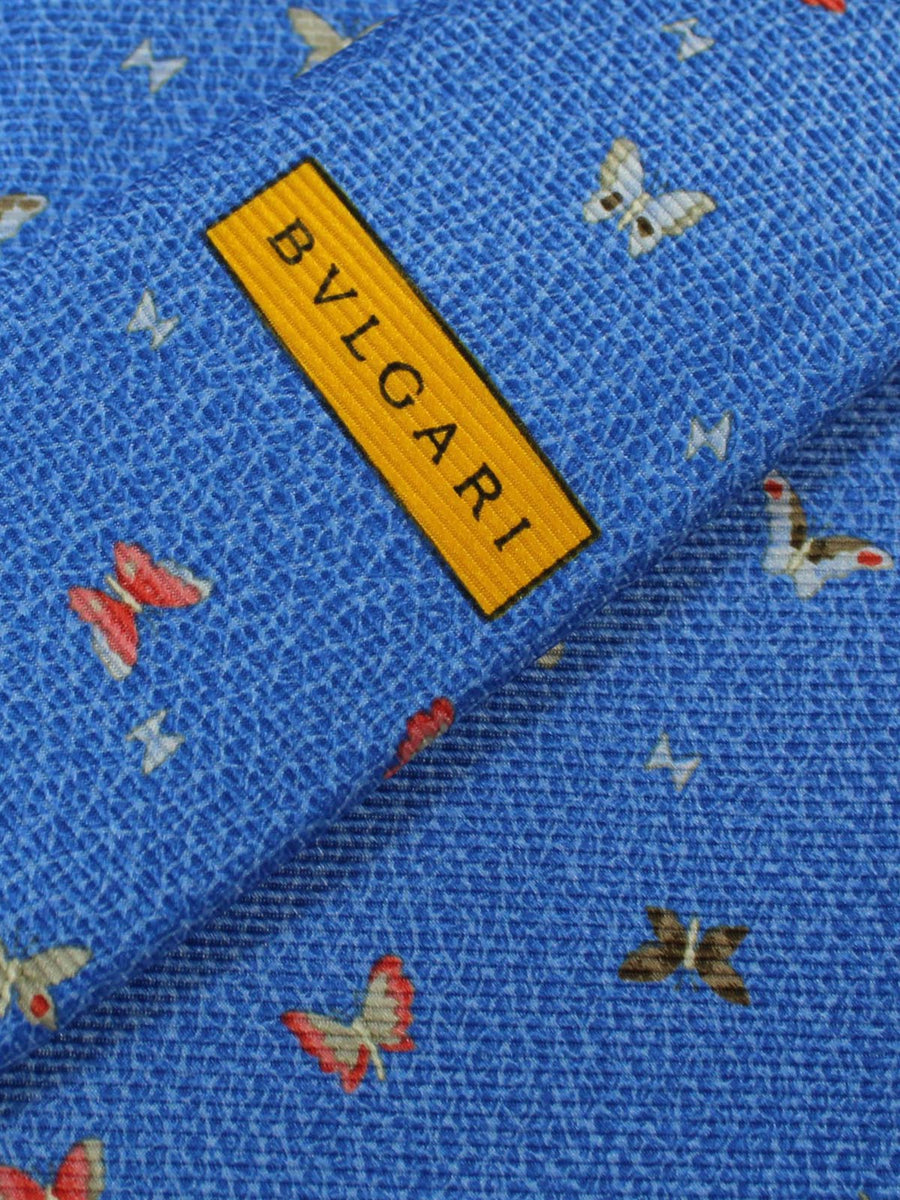 Bvlgari Sevenfold Tie Blue Butterflies SALE