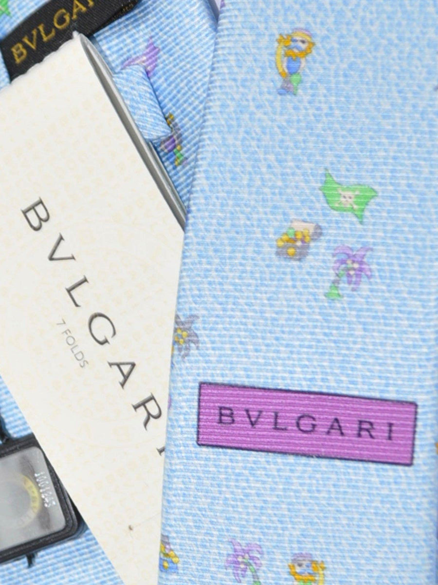 Bvlgari Sevenfold Tie Sky Blue Pirate's Life - Wide