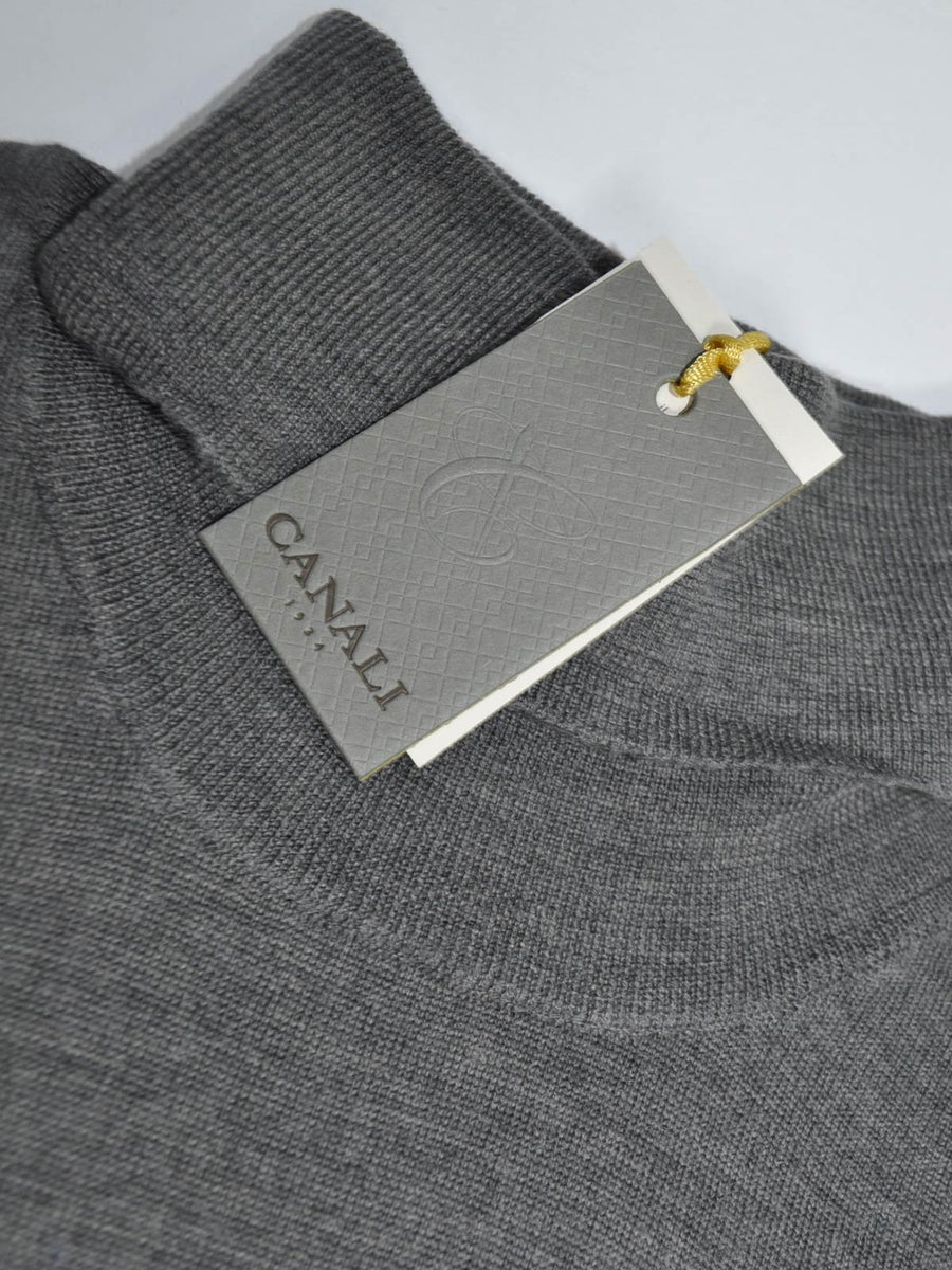 Canali Wool Sweater Two Tone Gray Turtleneck