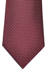 Canali Tie Maroon Red Pink Geometric