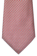 Canali Tie Silver Brown Red Geometric