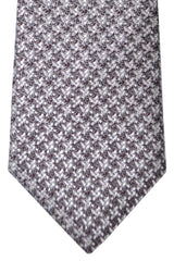 Canali Tie Gray Brown Geometric