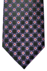 Canali Tie Purple Green Pink Geometric